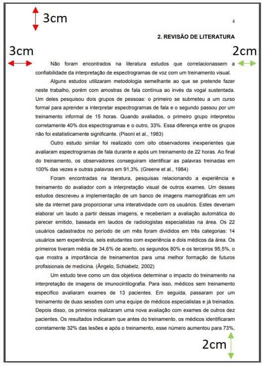Margens Abnt Normas Formatação No Word Exemplos E Dicas Tcc
