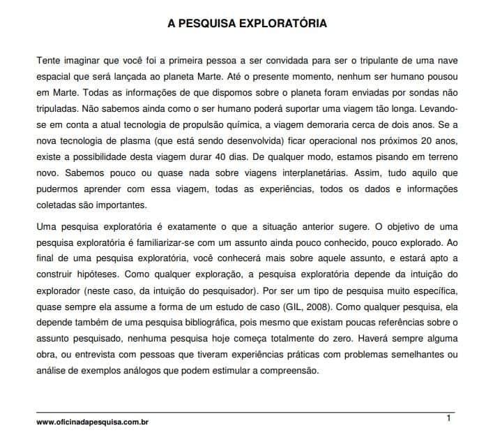 dicas para pesquisa exploratória