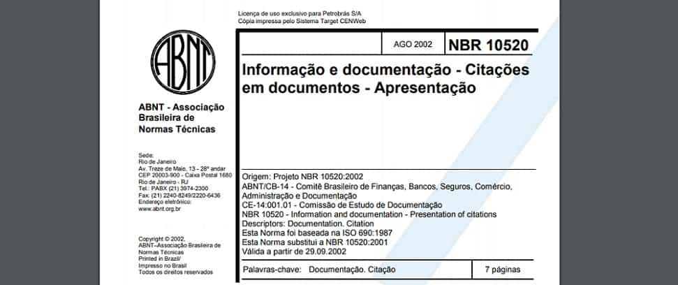 capa NBR 10520