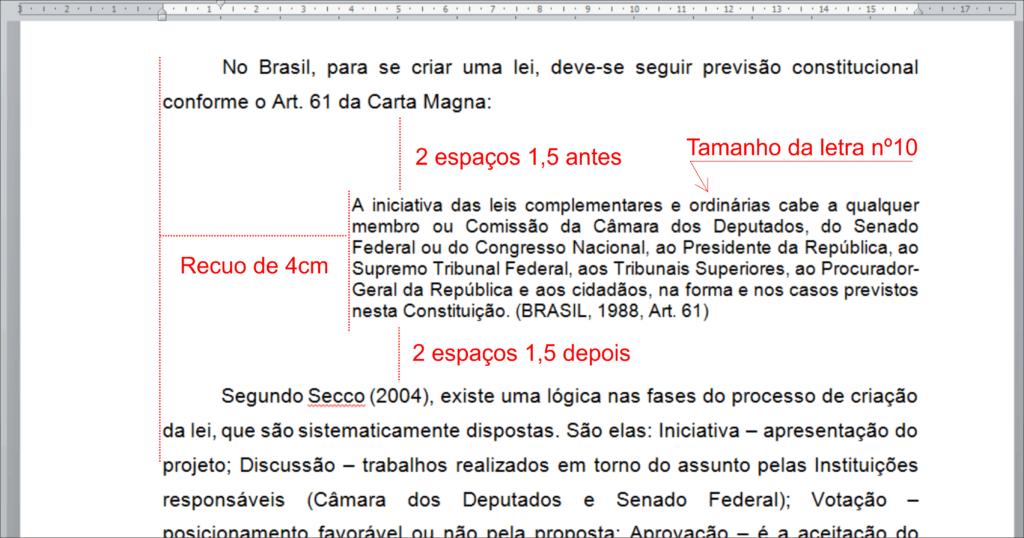 citar constituição federal no tcc