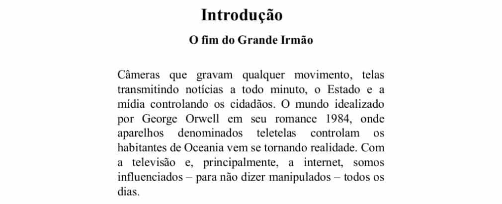 exemplo de introdução de redação