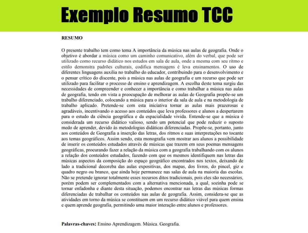 exemplo de resumo tcc